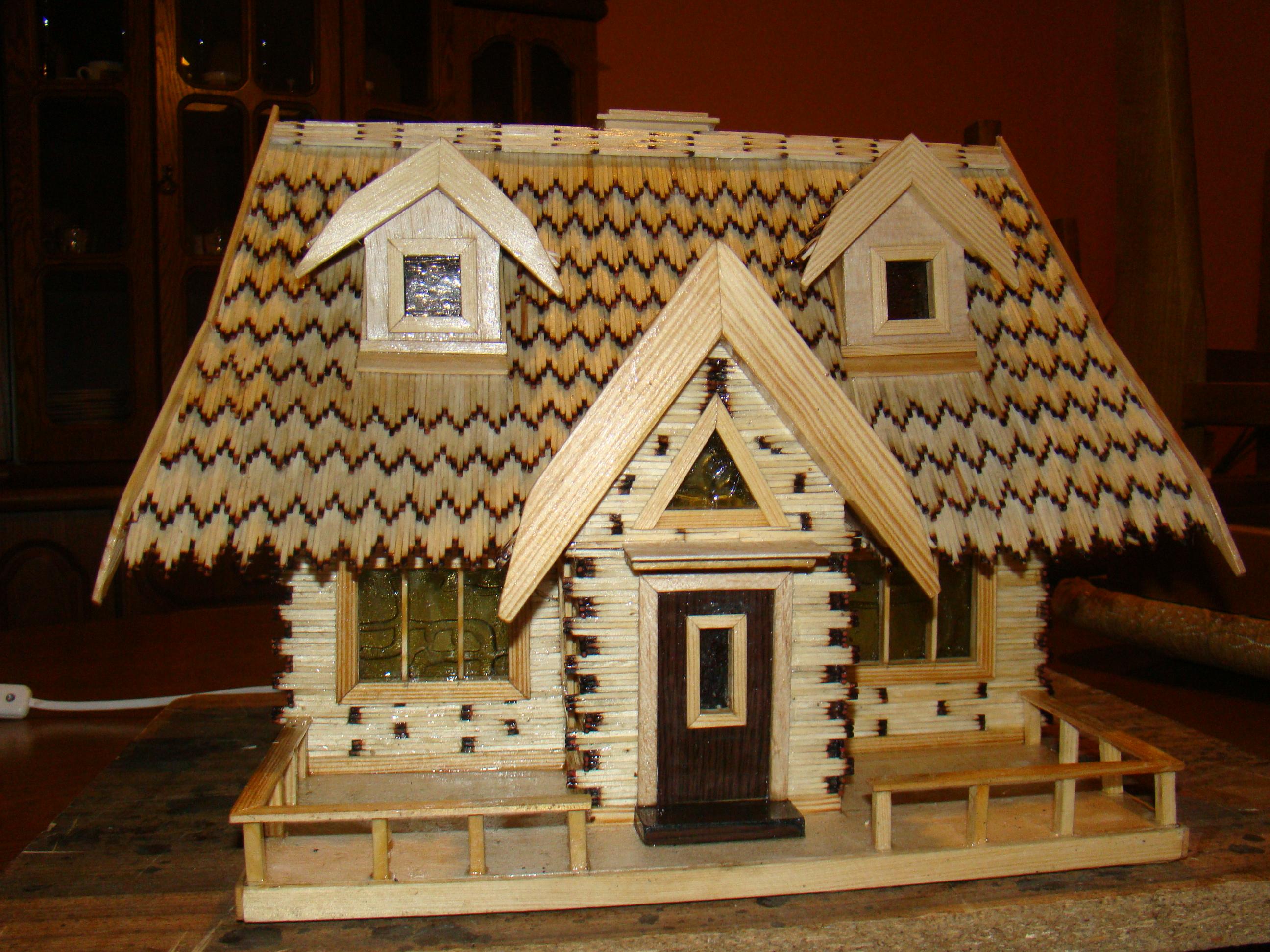 Дом из спички своими руками